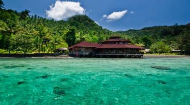 印尼蓝碧海景套房潜水度假套餐--Kungkungan Dive Resort